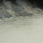 playa atlántica II - acuarela sobre papel arches encolado a tabla -120X40 cm