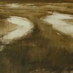 marismas III - acuarela sobre papel adherido a tabla - 55X70 cm