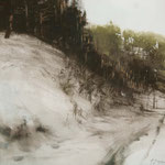 nieve XI - acuarela sobre papel adherido a tabla - 40X40 cm