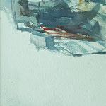 sombrilla - acuarela 18x25 cm