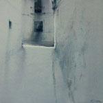 calle blanca VI - acuarela sobre papel arches adherido a tabla . 30X30 cm
