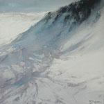 nieve II - acuarela sobre papel arches adherido a tabla - 40X40 cm
