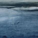 tierra negra I - lanzarote - acuarela- 150X100 cm