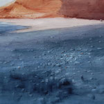 tierra negra II - lanzarote - acuarela - 150X100 cm