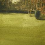 luces en el parque III - acuarela y color opaco sobre papel adherido a tabla - 22X27cm
