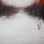 nieve XII - acuarela sobre papel adherido a tabla - 100X70 cm