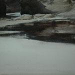 reflejos en la playa - acuarela sobre papel arches - 22X27 cm