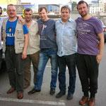 Петербуржец В.Кононов с москвичами в вечер перед турниром