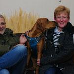 Laresa lebt jetzt bei Birgitt, Wolfgang mit Baya und Basha