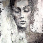 BLICK NACH INNEN 100 x 80 cm  Beton I Pigmente I Öl I Acryl auf Leinwand