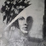 70ER Jahre  100cm x 80 cm     Beton I Pigmente I  Acryl auf Leinwand