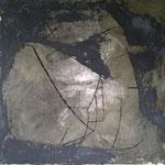 Eva Dvorak CAMEL XL l  100cm x 100cm    Beton I Pigmente I Acryl auf Leinwand