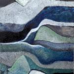 Gartenwächter 150 cm x 100 cm Beton I Pigmente I Öl I Acryl auf Leinwand