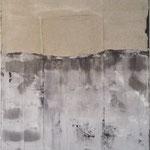 Horizont  100cm x 100cm    Beton I Pigmente I Acryl auf Leinwand
