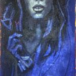 MADONNA IN BLAU   140 cm x 70cm    Beton I Pigmente I Acryl auf Leinwand