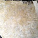 Goldpfanne  80cm x 140cm    Beton I Pigmente I Acryl auf Leinwand