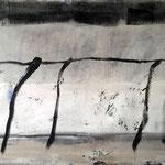 Betonwanderung 100cm x 190cm    Beton I Pigmente I Acryl auf Leinwand