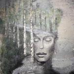 IM EINKLANG 120 x 100 cm  Beton I Pigmente I Öl I Acryl auf Leinwand
