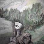 KUSCHELFELS120 x 100 cm  Beton I Pigmente I Öl I Acryl auf Leinwand