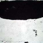 Eine Stufe im Ich  80cm x 100cm    Beton I Pigmente I Acryl auf Leinwand