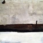 Platonische Rettung 100cm x 155cm    Beton I Pigmente I Acryl auf Leinwand