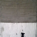 Aperer Fels  100cm x 100cm    Beton I Pigmente I Acryl auf Leinwand