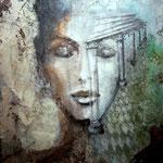 BELLEZZA ANTICA   100cm x 80 cm     Beton I Pigmente I Öl I Acryl auf Leinwand
