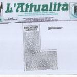 """Periodico Culturale romano """"L'Attualità"""" Settembre 2014"""