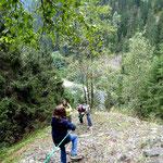 Abstieg über Fels