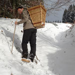 Schneeschuhtour auf den Lieferwegen durchs Gebirge