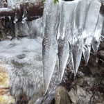 Eiszähne am Höhlenbach