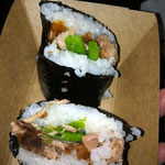 Peking duck musubi