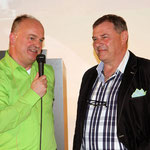 Mit Olympiasieger Wolfgang Hoppe bei der Erstpräsentation von EISESGRÜN und der Frage: Warum heißt Hoppes Tochter Mandy?