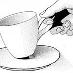 【ティーカップ】2014年頃制作。アナログ