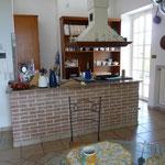 Blich in die offene Küche