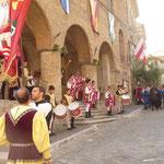 beim mittelalterlichen Fest