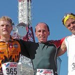 Gaisberglauf 3. Platz neben Gruber und Raindl