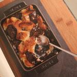 Pudding au pain et au chocolat noir - Simple et Chic