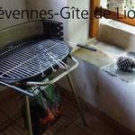 Gite de liou - Cévennes - Le barbecue