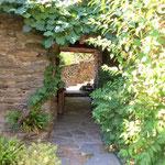 Gite de liou - Cévennes - Le porche d'entrée