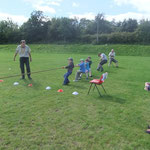 Tug O War with the children at our family fun day at Auchenhowie