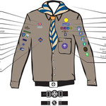 Layout of Badges on Explorers Uniform