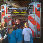 Beavers visit to the Milngavie Fire Station as part of their Safety Badge