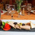 Assiette gourmande de foie gras