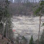 Falaise vu depuis Chêne-Pâquier pour détruire le 3ème essaim