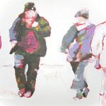 """""""Gestrandet2"""" 30 x 40 cm Akryl auf Leinwand 2010"""