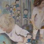"""""""Ella, Franka, Lucy""""  80 x 100 cm Akryl auf Leinwand 2010"""