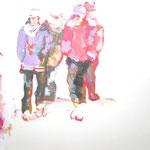 """""""Gestrandet1 """" 30 x 40 cm Akryl auf Leinwand 2010"""