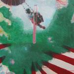 """""""Rummel1"""" 80 x 100 cm Akryl auf Leinwand 2010"""
