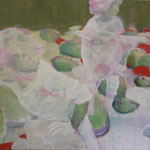 """""""Froschköniginnen"""" 120 x 180 cm Akryl a.LW  2011"""